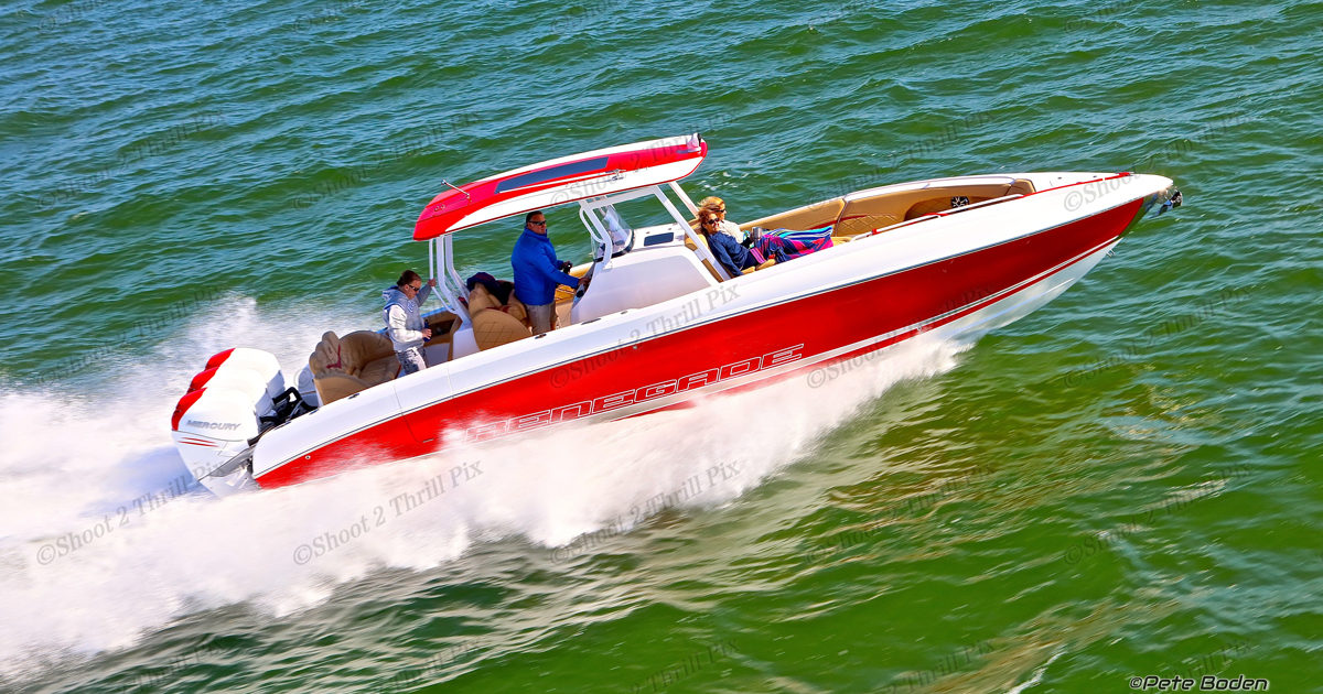 33 open scarlet red renegade powerboats