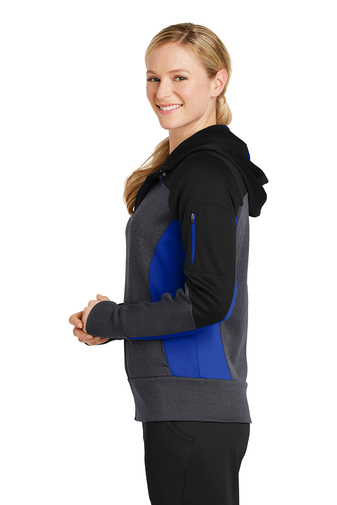 womens jacket blue side
